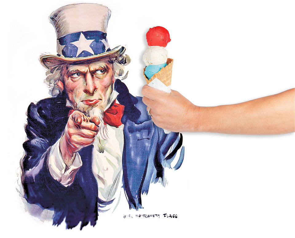 Photo - FOURTH OF JULY / 4TH OF JULY: Uncle Sam / ice cream cone GRAPHIC / ILLUSTRATION