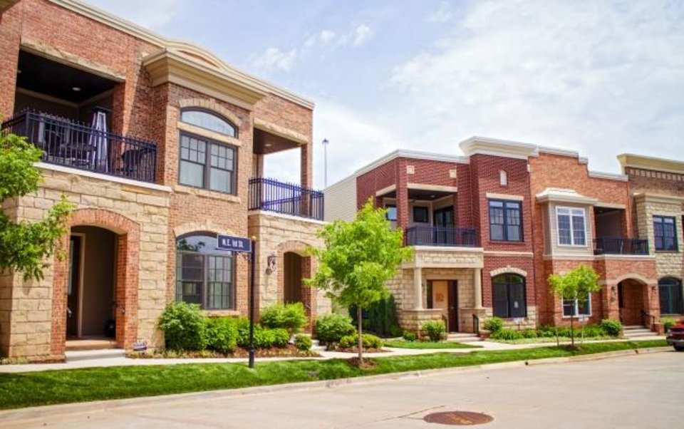 Photo -  Townhomes built at The Hill over the past dozen years have mostly sold between $400,000 and more than $1 million. [OKLAHOMAN ARCHIVES]