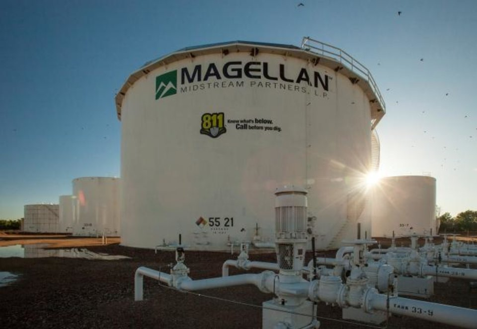 Photo -  A Magellan Midstream Partners LP tank. The company finished ninth in this year's Oklahoma Inc. rankings. [THE OKLAHOMAN ARCHIVES]