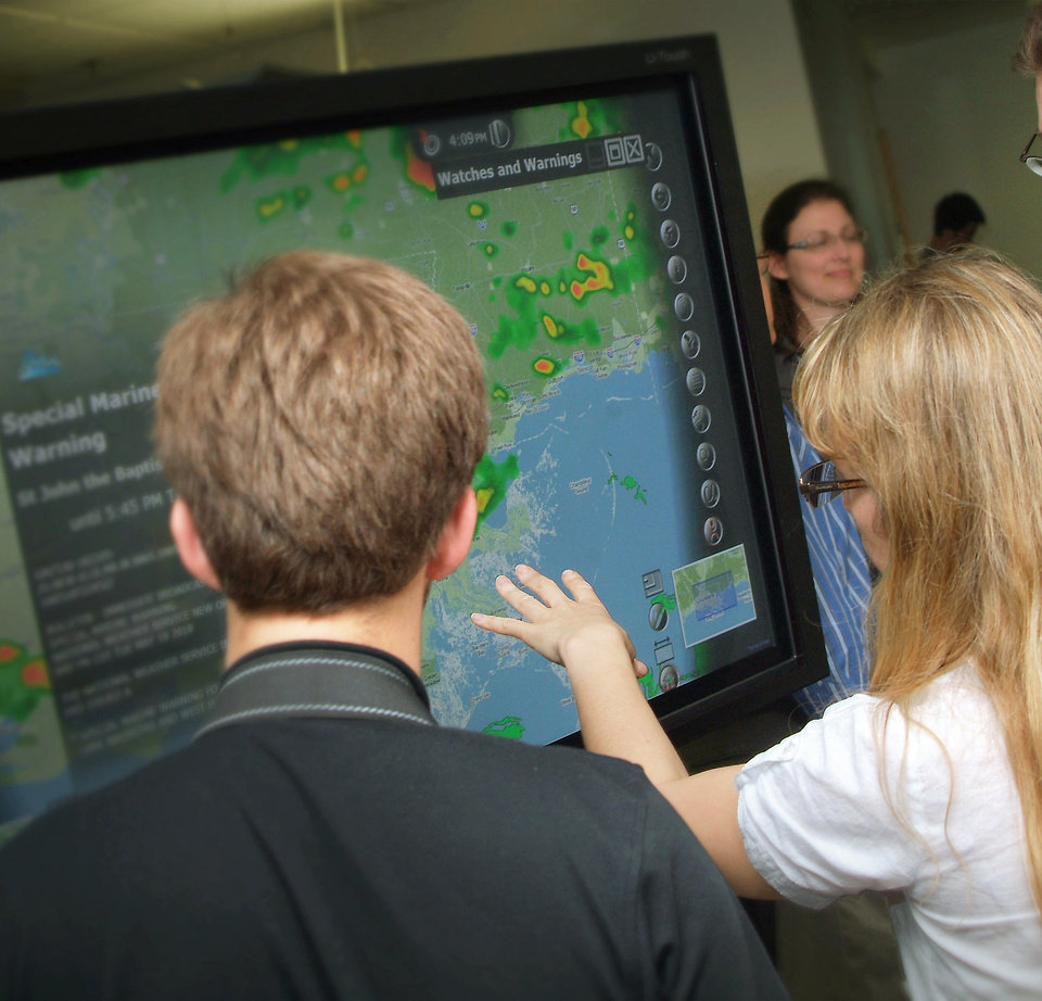 Photo - A demonstration of WDTs  iMapLive interactive weather map.  Photo PROVIDED BY Bramlett & Associates