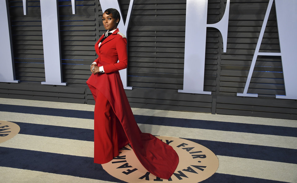 Photo - Janelle Monae arrives at the Vanity Fair Oscar Party on Sunday, March 4, 2018, in Beverly Hills, Calif. (Photo by Evan Agostini/Invision/AP)