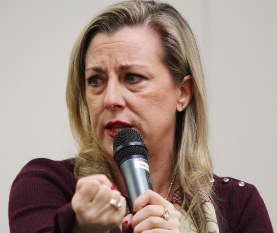 Photo -  U.S. Rep. Kendra Horn, D-Oklahoma City, chairs the House Subcommittee on Space and Aeronautics.  [DOUG HOKE/THE OKLAHOMAN]