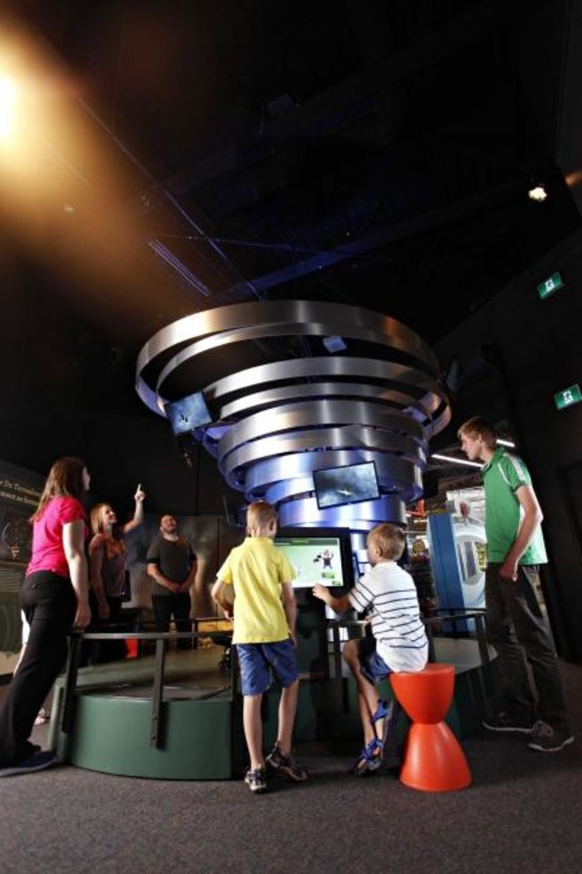 "Photo -  The science of thunderstorms, heat waves, hurricanes and more is up for exploration at Science Museum Oklahoma as part of ""Wild Weather,"" a temporary exhibition available through Labor Day. [Photo provided]"