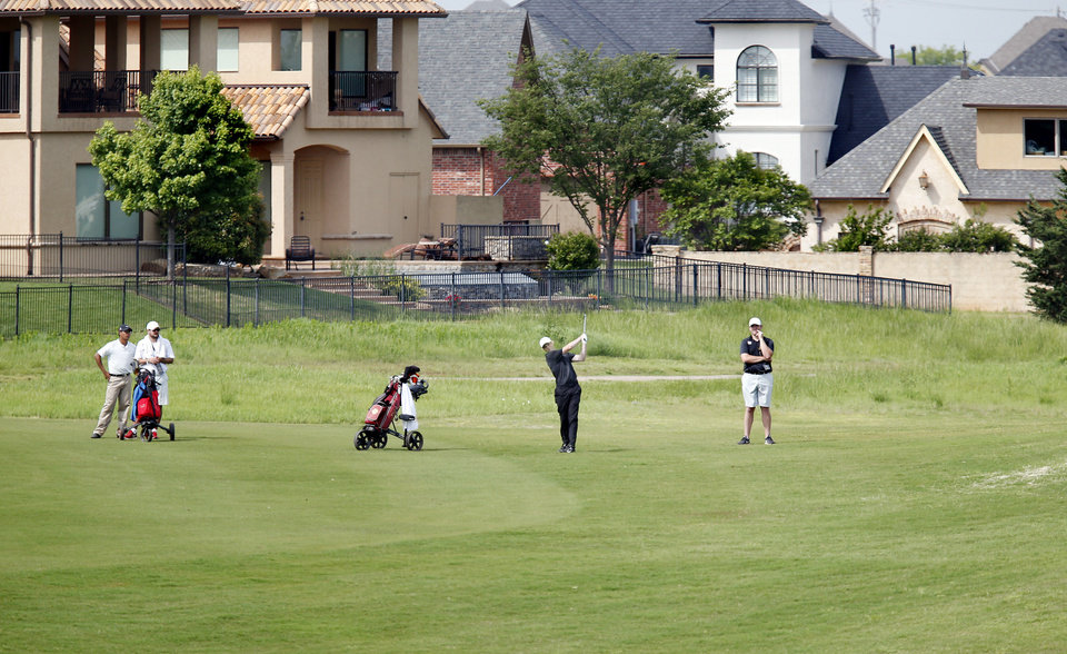 Photo - Class 6A boys golf state tournament at Rose Creek golf course on Monday, May 6, 2019.  [Jim Beckel/The Oklahoman]