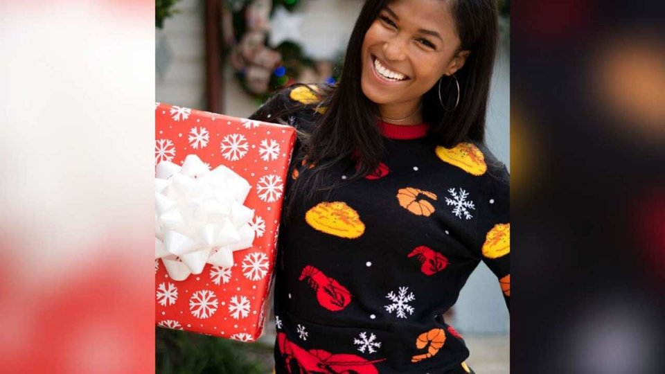 Photo - Red Lobster's new ugly holiday sweater.
