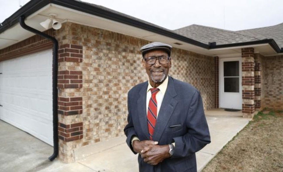 Photo -  Involved in real estate and sale of homes since the early 1960s, Carl Carbin, 90, blazed a trail for black Realtors in Oklahoma City. [JIM BECKEL/THE OKLAHOMAN]