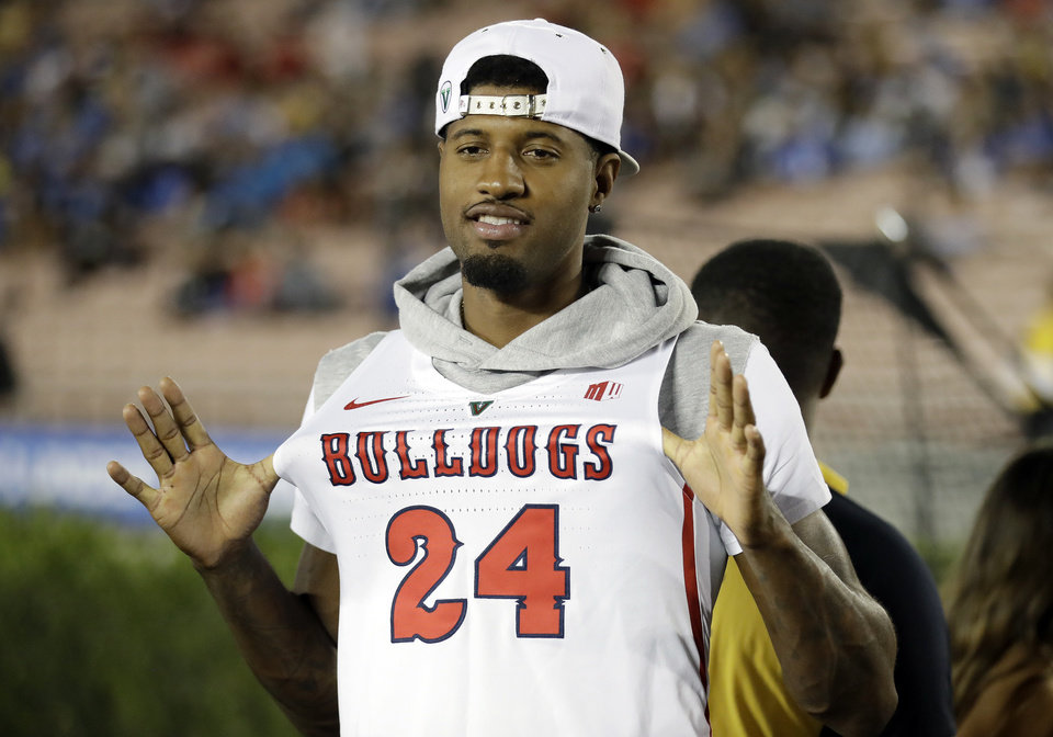 official photos b25f4 f5287 Paul George and Fresno State: There's nothing but love ...