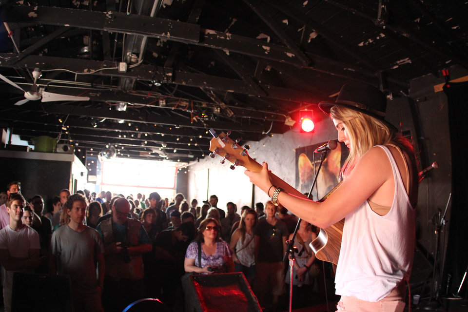 Photo -  Sherree Chamberlain performs inside of the Opolis at NMF5. [Photo by Nathan Poppe, The Oklahoman Archives]
