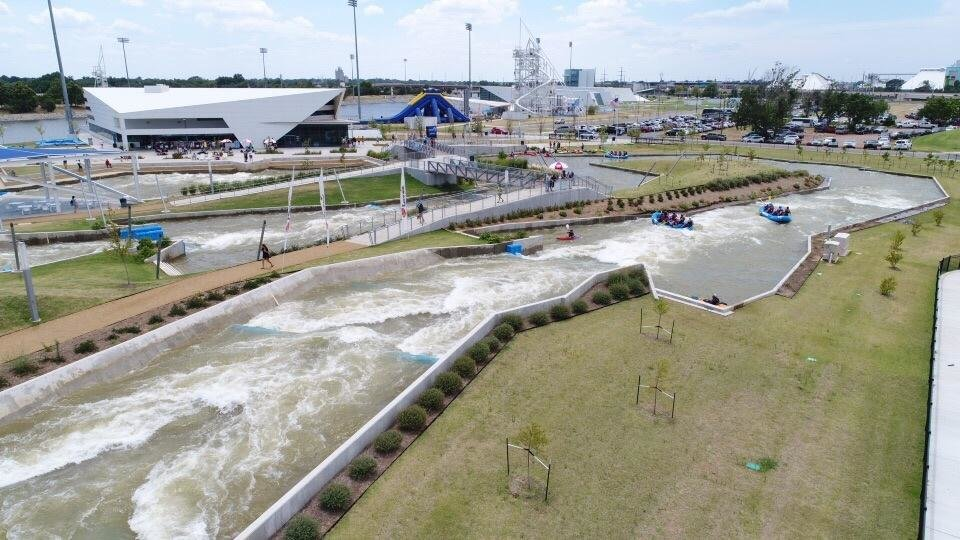 Photo -  A nice, wide shot of some of the entertainments at Riversport OKC. [Provided by Riversport OKC]