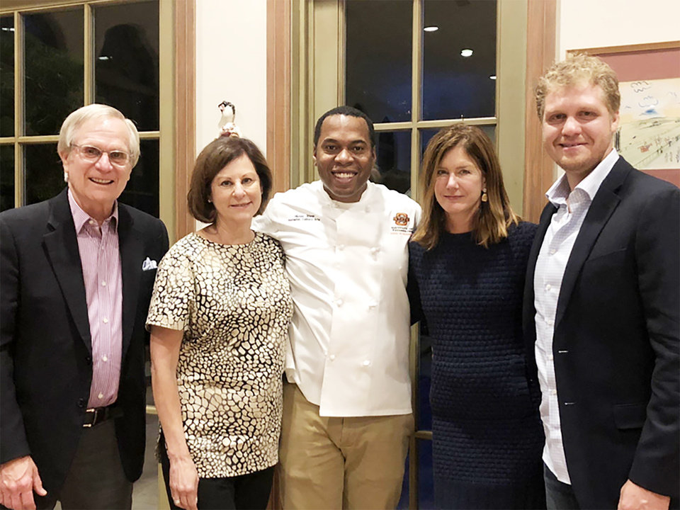 Photo - Jerry and Jackie Bendorf, Chef Aaron Ware, Erin Horton, Brandon Erikson. PROVIDED PHOTO