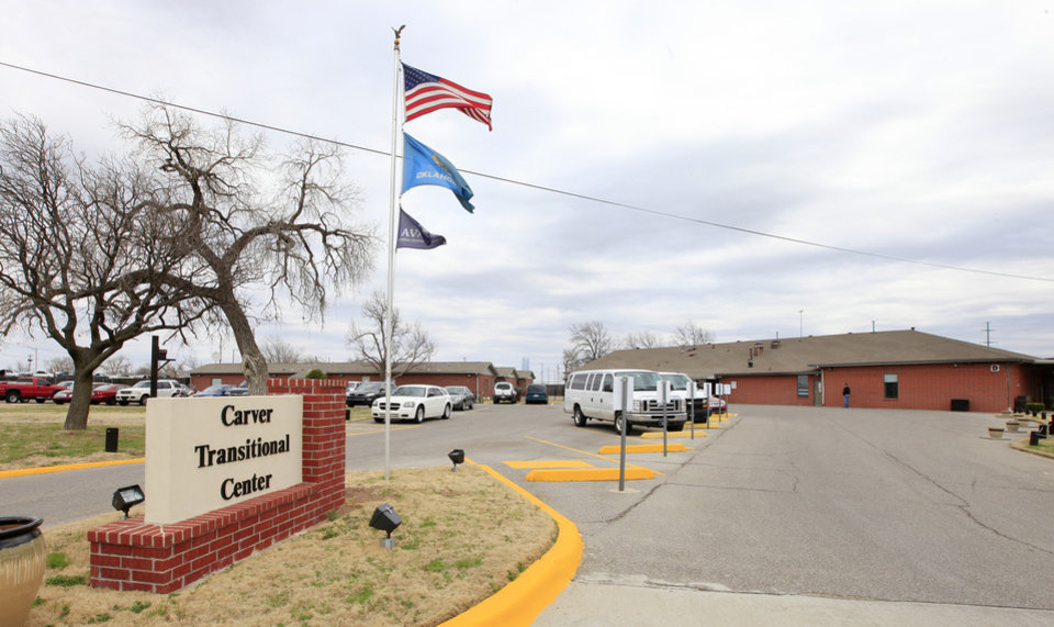 Photo -      Carver Transitional Center, 400 S May Ave., in Oklahoma City on Friday. Photo by Paul B. Southerland, The Oklahoman   PAUL B. SOUTHERLAND -