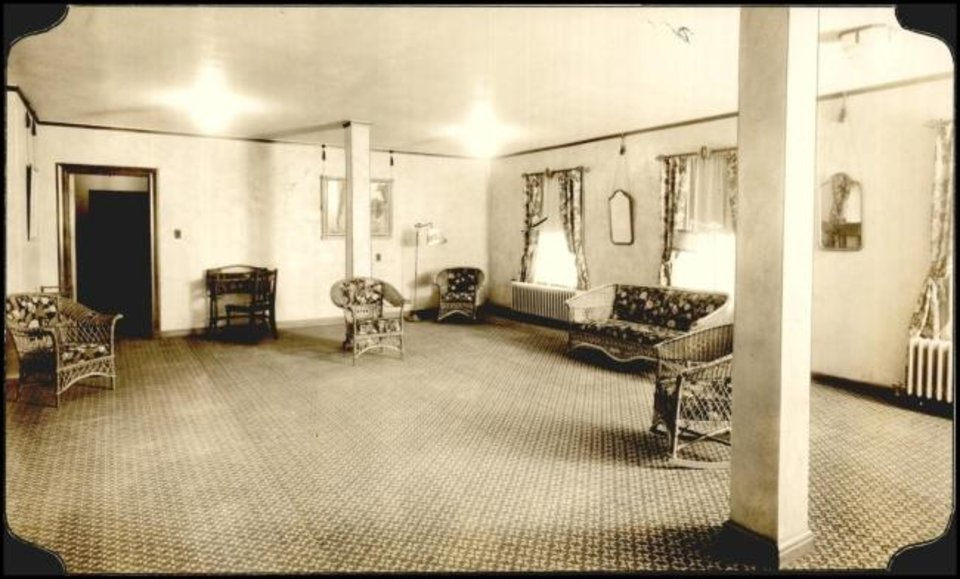 Photo -  A second-floor lounge at the Park-O-Tell Hotel is shown the week it opened in 1930. [Oklahoman Archives]