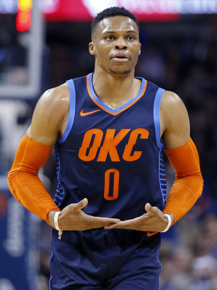09936f1f070 Oklahoma City coach Billy Donovan says Russell Westbrook will just keep  getting better and better as the season progresses. [PHOTO BY SARAH PHIPPS,  ...