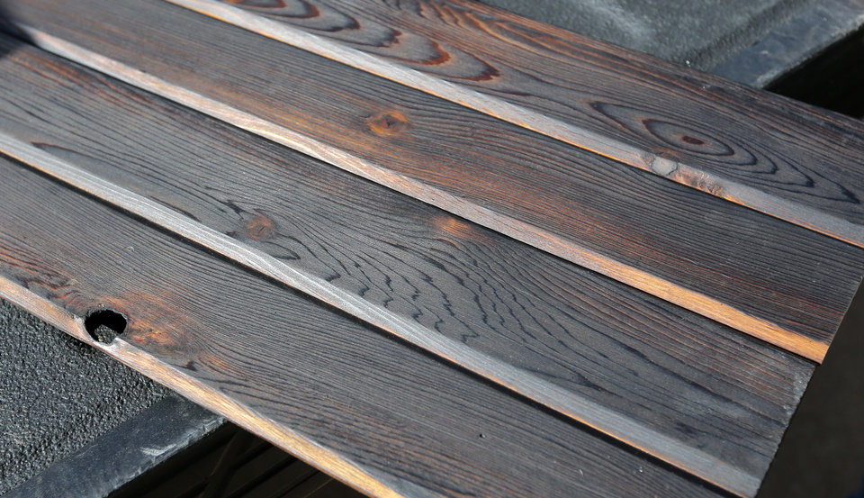 Finished Pieces Of Wood On Which Andy Zeeck Used The Anese Burning Technique Shou Sugi Ban Photo By Nate Billings Oklahoman