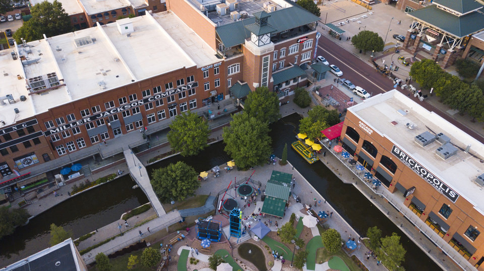 Photo - Drone photo of Bricktown Canal