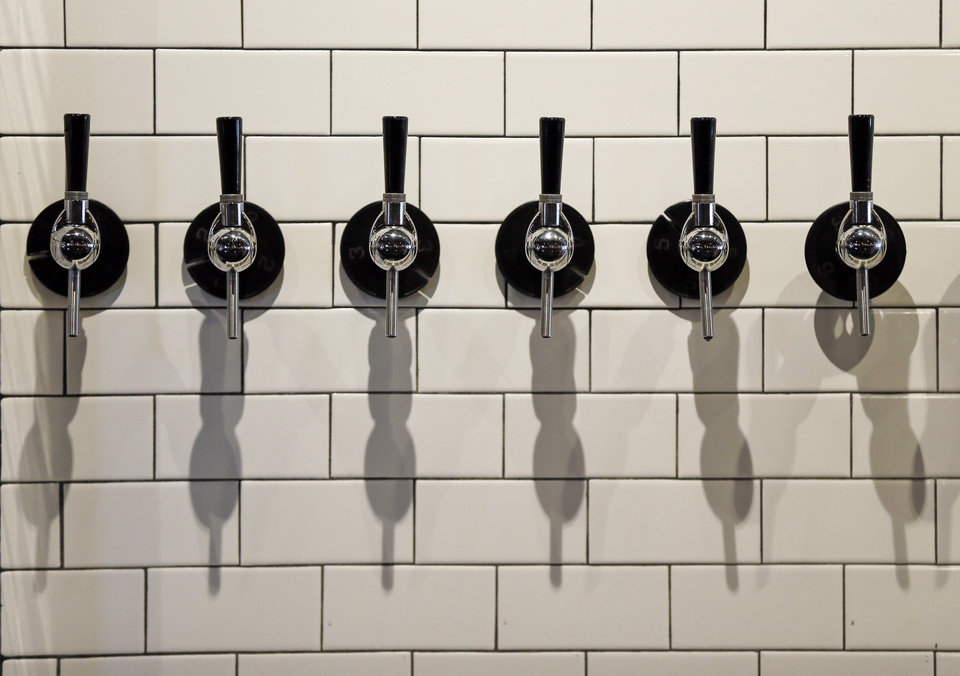 Photo - Beer taps at Oak and Oar, 1732 NW 16, in Oklahoma City, Monday, Sept. 11, 2017. Photo by Nate Billings, The Oklahoman