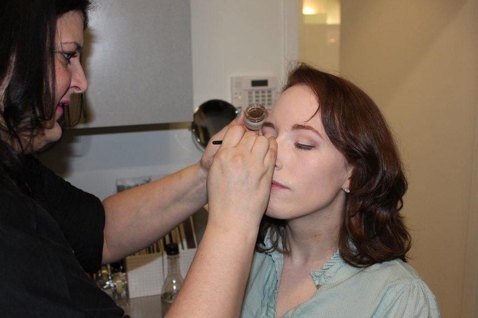 Photo - Makeup artist Sharon Tabb created a soft, romantic makeup look for Angela Schnabel's Mood