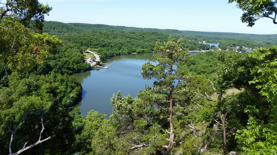Photo -  A view of the Lake of the Ozarks from Ha Ha Tonka State Park in Missouri. [Photo by Annette Price]