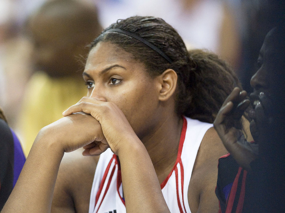 Photo - Sacramento rookie and former OU star Courtney Paris spends a lot of time on the bench in the WNBA. (AP Photo)