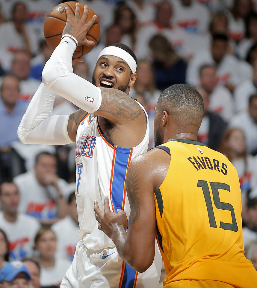 Photo -  The Thunder has until Aug. 31 to waive Carmelo Anthony and stretch the $27.9 million he's owed over three years. [OKLAHOMAN ARCHIVES]