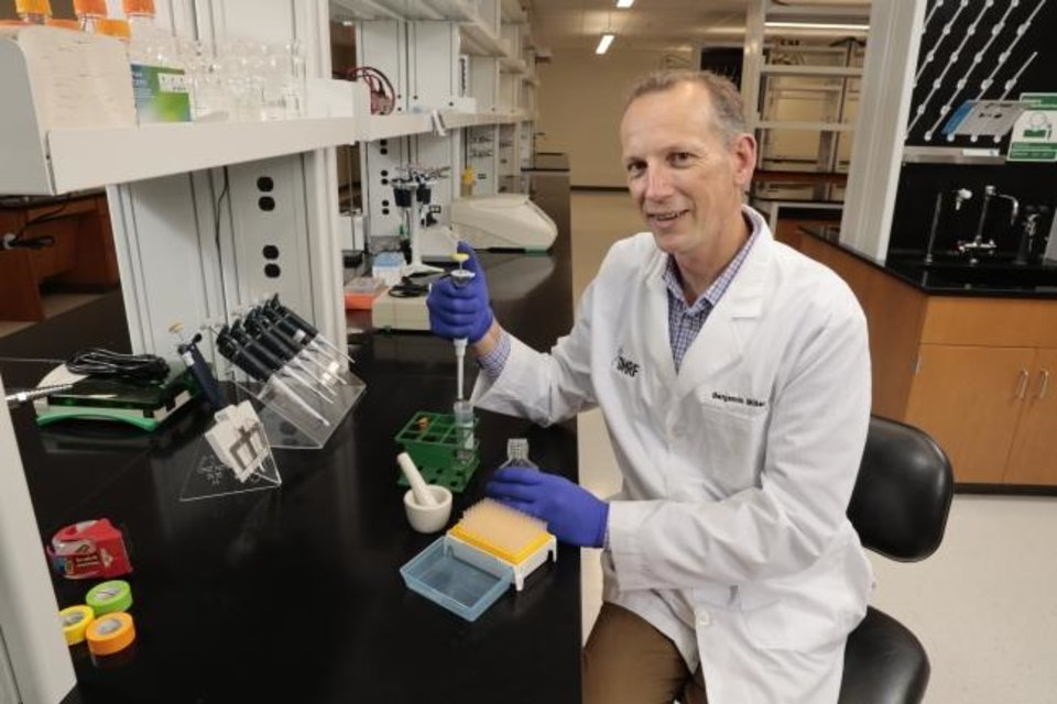 Photo -  Oklahoma Medical Research Foundation scientist Benjamin Miller. [Provided Photo]