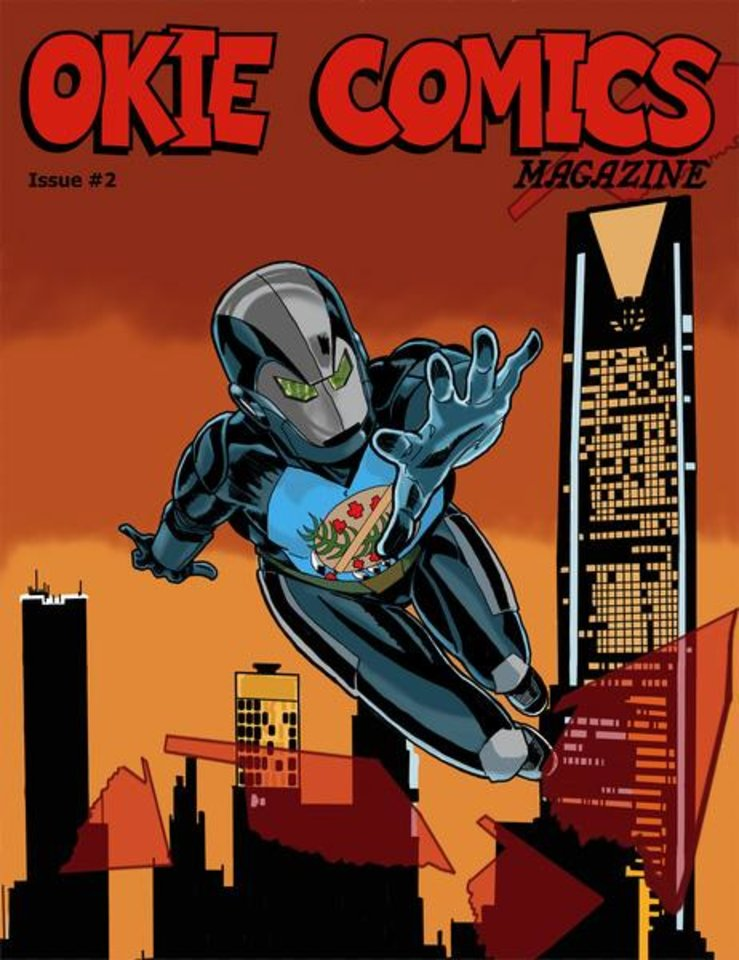 Photo -  The cover to Okie Comics #2 by Mike Kennedy. [Photo provided by Okie Comics]