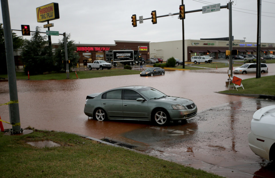 Heavy Rain Causes Headaches For Okc Motorists Thursday