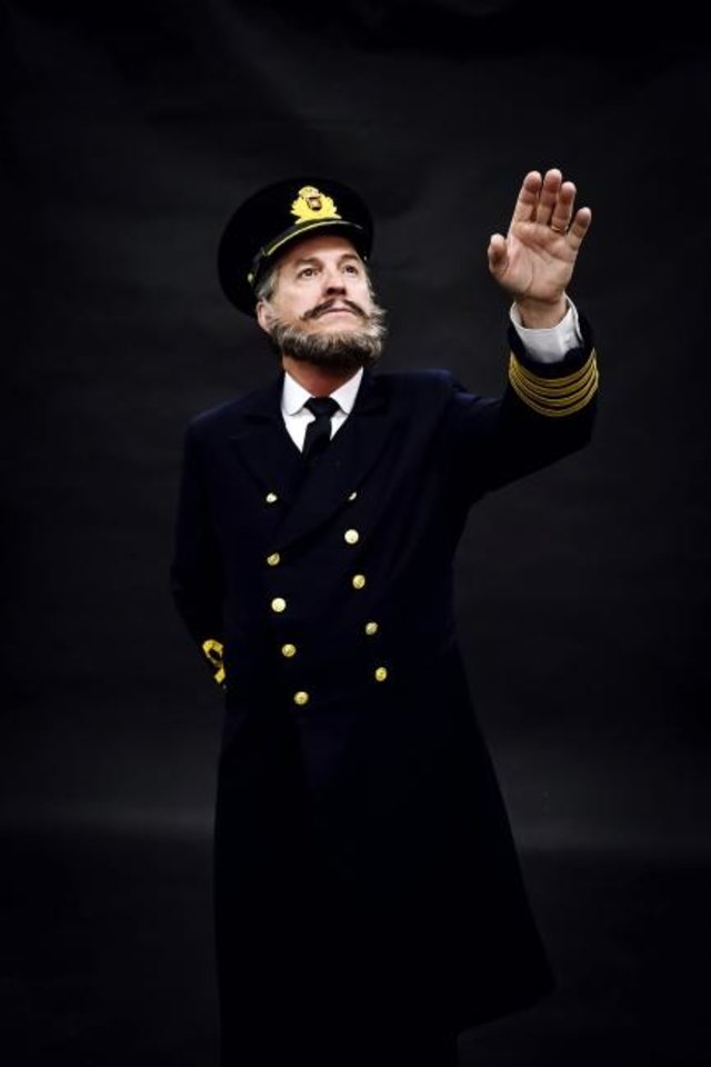 Photo -  Jeffrey Ambrosini plays  Captain E.J. Smith in Lyric Theatre's
