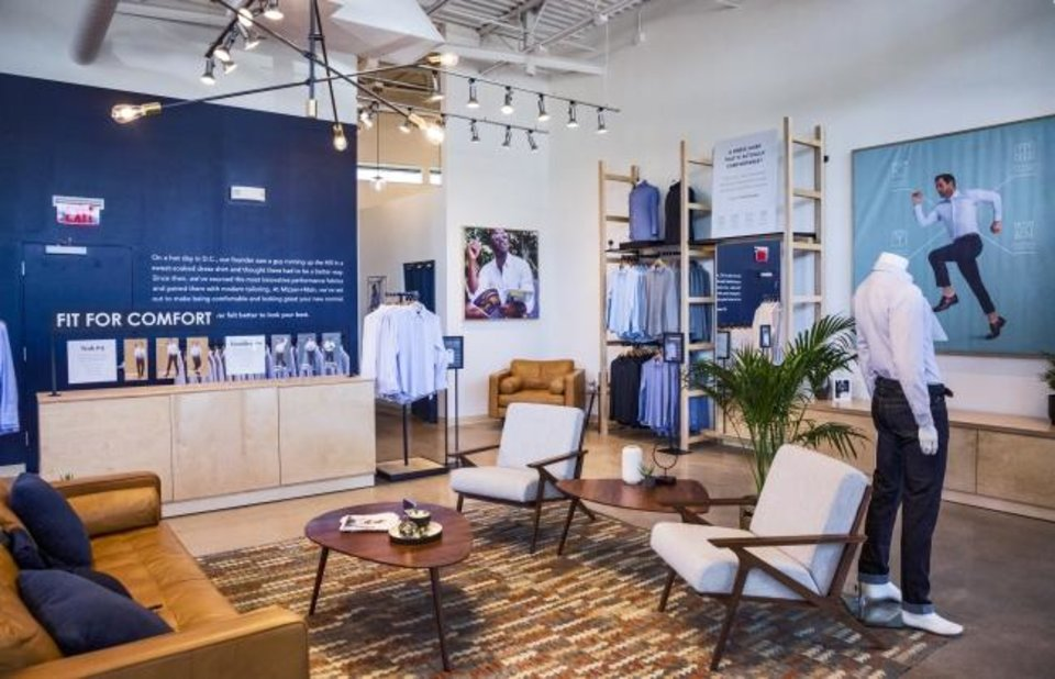 Photo -  Clothing displayed in the new Mizzen+Main store in Classen Curve. The Oklahoma City location is the first store outside of Texas [Chris Landsberger/The Oklahoman]