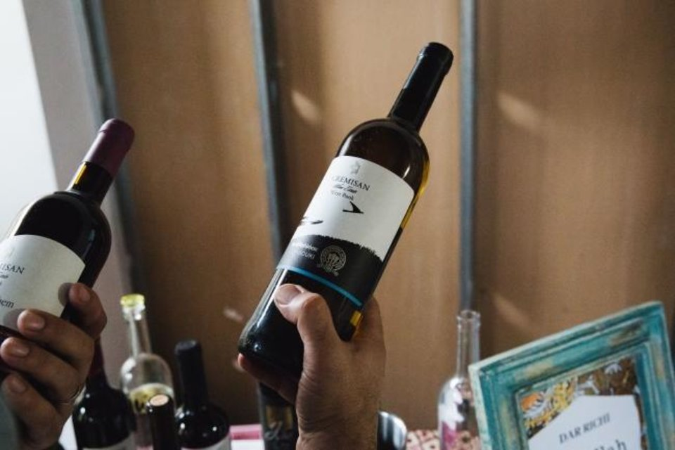 Photo -  Wines from Cremisan, produced in an old monastery that straddles the demarcation line between Jerusalem and the Palestinian territories in the West Bank, were featured at the Borderless Wine event. [Handout photo by Maya Oren]
