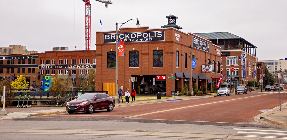 Photo - Businesses located in Bricktown in Oklahoma City, Okla. on Monday, March 16, 2020.    [Chris Landsberger/The Oklahoman]