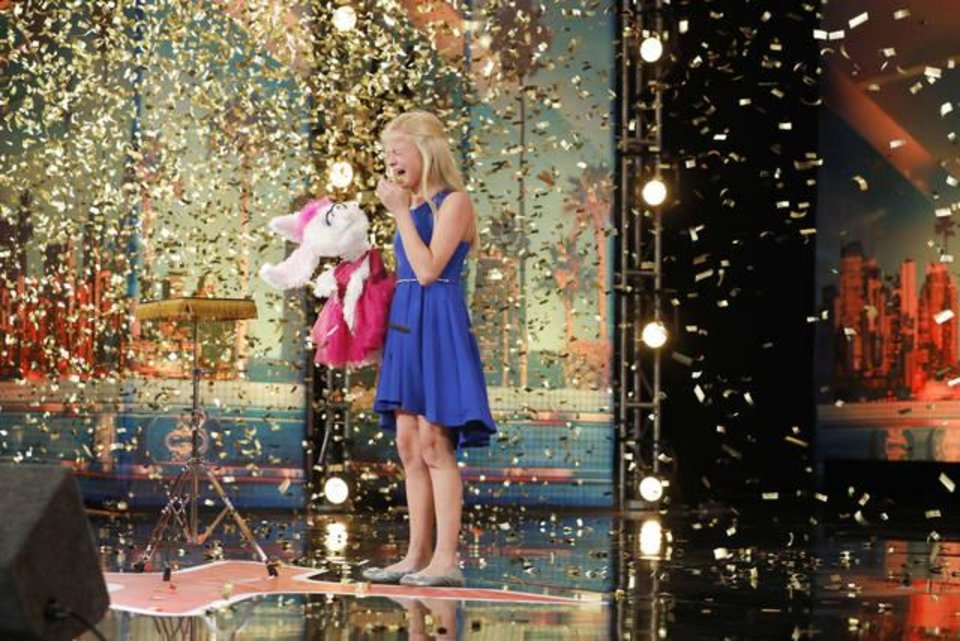 Photo - AMERICA'S GOT TALENT -- Auditions Pasadena Civic Auditorium -- Pictured: Darci Lynne -- (Photo by: Trae Patton/NBC)