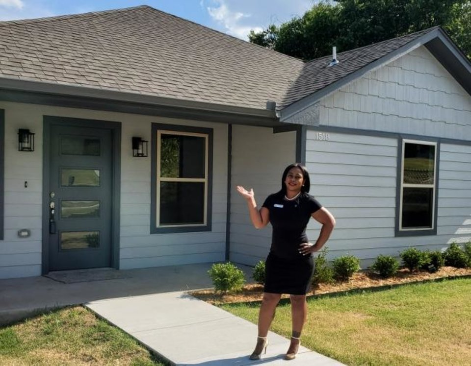 Photo -  Shia Sumpter, a real estate agent with eXp Realty, gave information about the home inspection process for the Oklahoma Housing Finance Agency video series. [OHFA PHOTO]