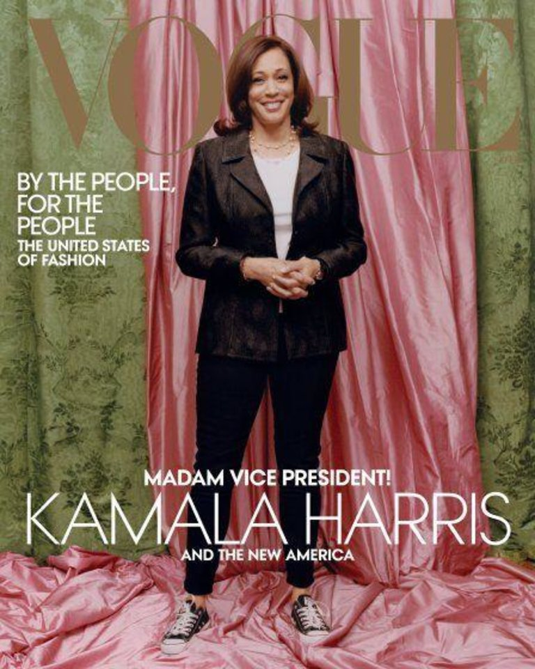 Photo - Vice President-elect Kamala Harris on the cover of the February Vogue magazine.