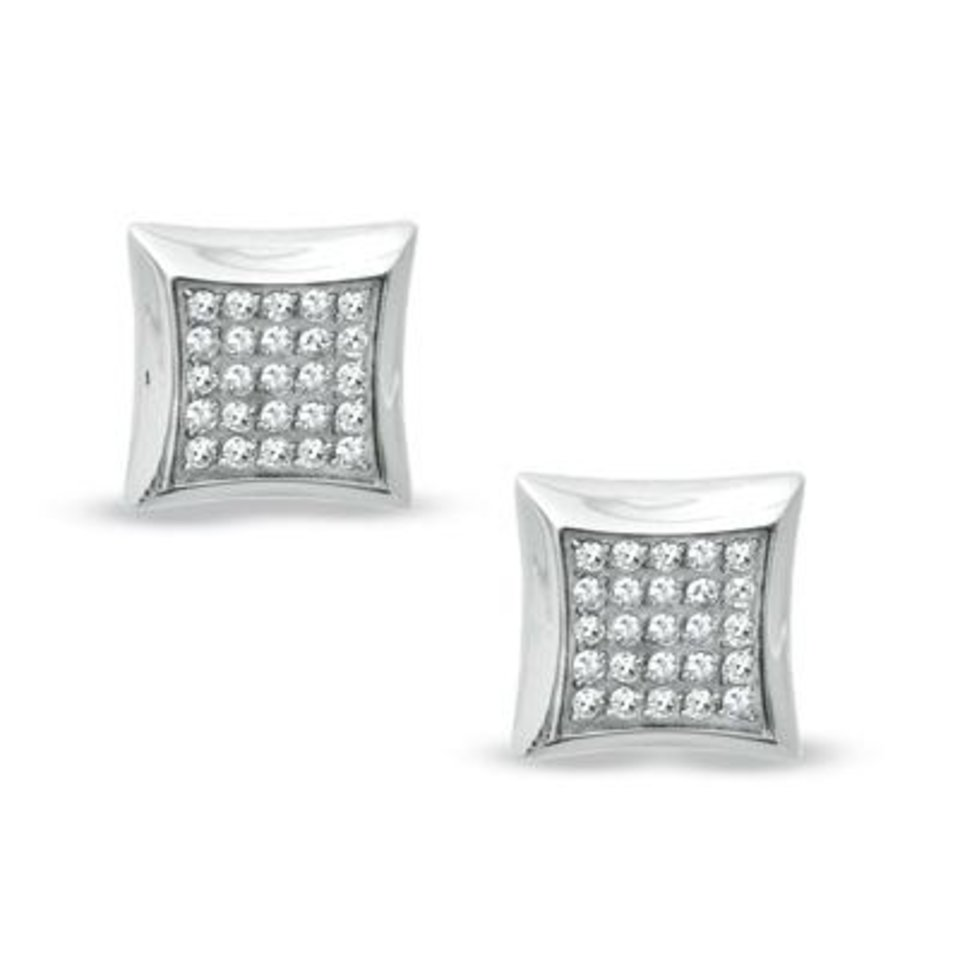 Photo - Shaquille O'Neal men's diamond earrings in stainless steel, available at Zales.