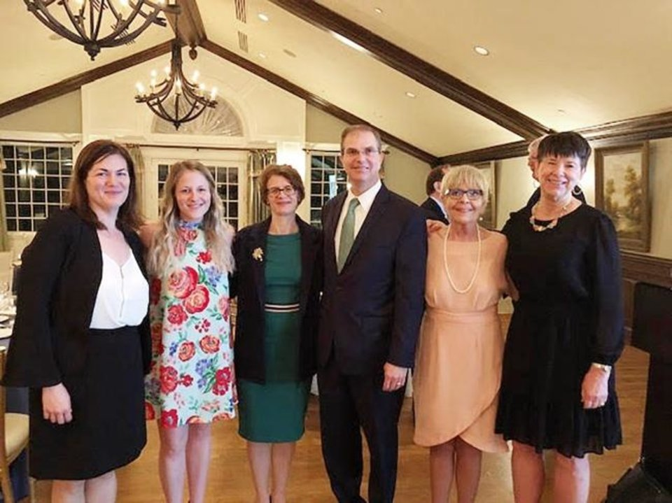 Photo -  Alexandra Shadid, Catie Brothers, Melanie Jester, Timothy DeGiusti, Marilyn Matteson Edens and Virginia McCombs.