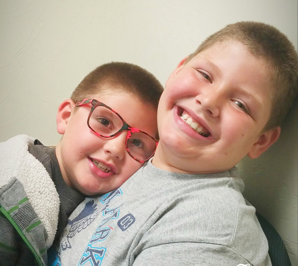 Photo -  Ayden Almanza, 8, left, and his brother Austin Almanza, 10. Austin was killed Oct. 21 by a crossbow bolt in Lincoln County. [Photo provided]