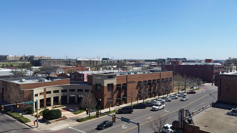 Photo -  The Oklahoma City Community Foundation was built at NW 10 and Broadway almost a decade ago and includes an empty lot to the south reserved for future growth. [Photo by Steve Lackmeyer, The Oklahoman]