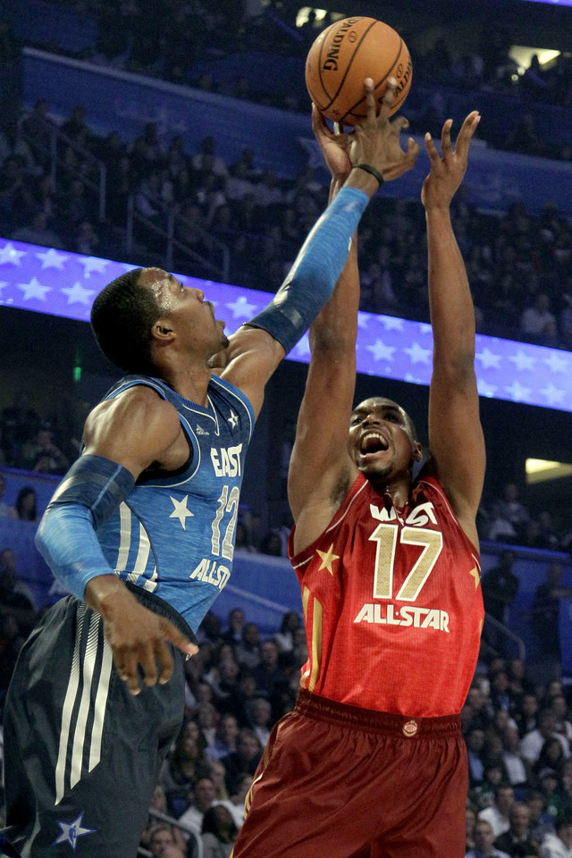 582a67f6f NBA All-Star Game notebook  Russell Westbrook dazzles in second All-Star  game - Article Photos 24 38. Eastern Conference s Dwight Howard (12)