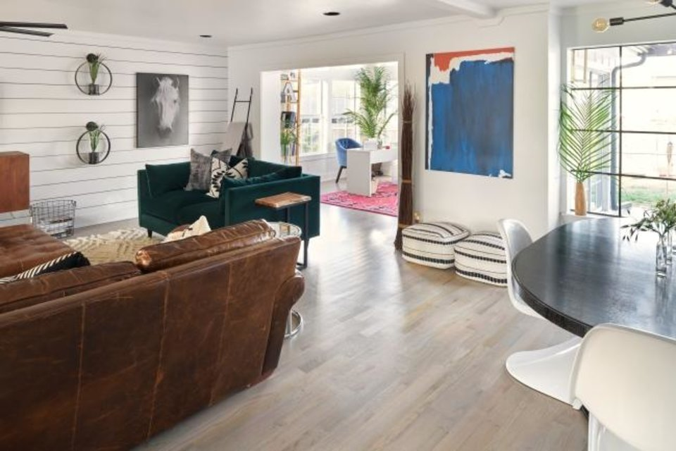 Photo -  Living area at 11020 Maple Grove Drive, owned by Brian and Alicia Rush. [PHOTO PROVIDED BY QUAIL  CREEK HOME TOUR]