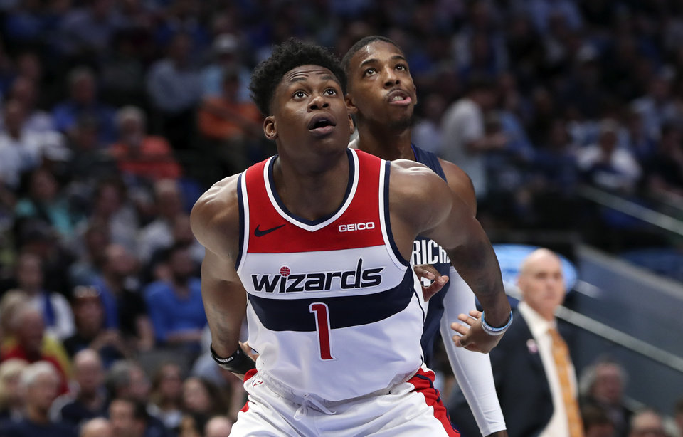 Photo - Oct 23, 2019; Dallas, TX, USA; Washington Wizards guard Admiral Schofield (1) in action during the game against the Dallas Mavericks at American Airlines Center. Mandatory Credit: Kevin Jairaj-USA TODAY Sports