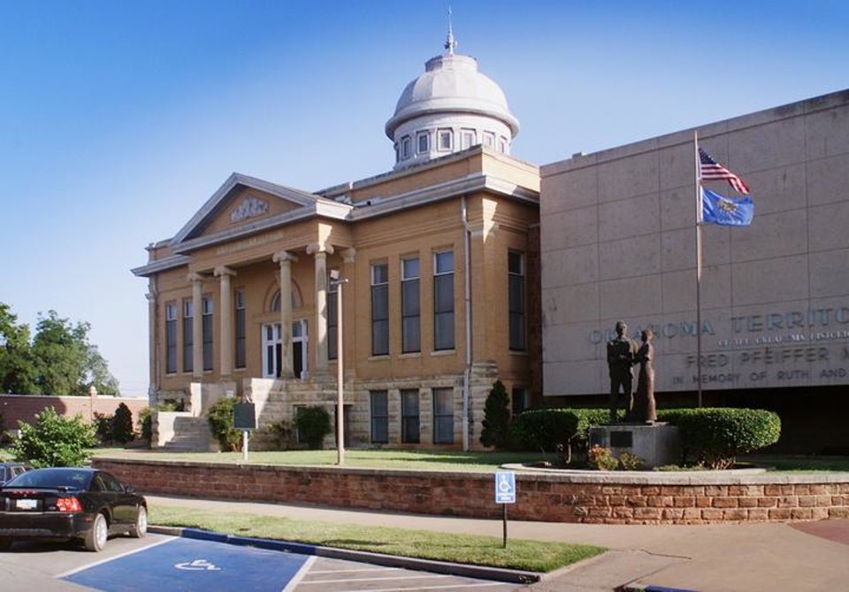 Photo - The Carnegie Library is among the largest and best known buildings in Guthrie. (PAUL HELLSTERN, THE OKLAHOMAN)