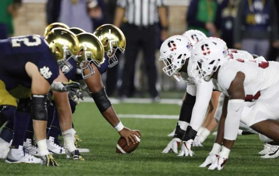 Photo -  Whenever Stanford squares off with Notre Dame, it's bound to be a game the resonates across the college football landscape. [AP Photo/Carlos Osorio, File]