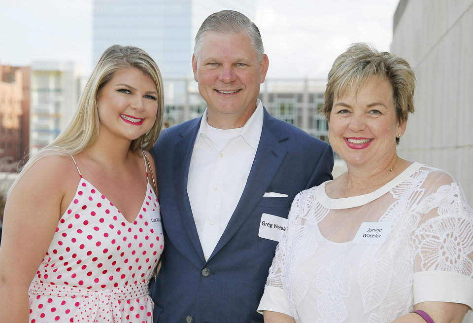 Photo - Liza Wheeler, Greg and Janine Wheeler. PHOTO BY BRYAN TERRY, THE OKLAHOMAN