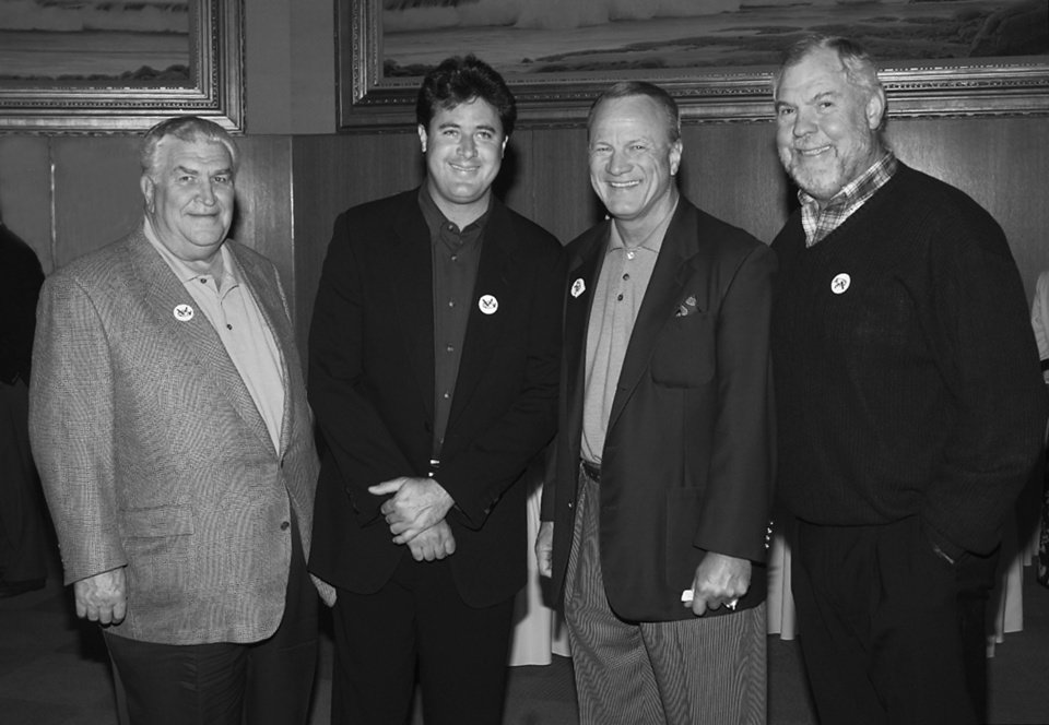 cd700a54585f94 Vince Gill Celebrity Golf Tournament reception at the Cowboy Hall. L-R are  Lee Allan Smith