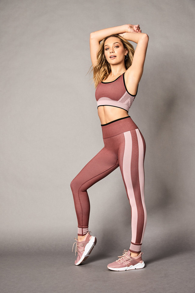Photo - Maddie Ziegler wearing the Euphoria outfit from her new limited-edition capsule collection with Fabletics.