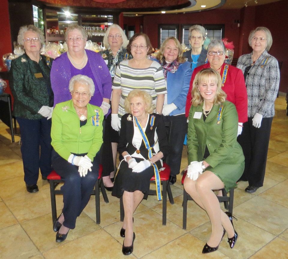 Photo - Marilynn Spence, Johnabeth Frost, Deborah Aldridge, Lauri Warmack, Norma Hughes, Sarah Pool, Glenda Wallis, Nancy Moats, standing; Orriene Denslow, Carma Jenkins, Kristen Ferate, seated. PHOTO PROVIDED