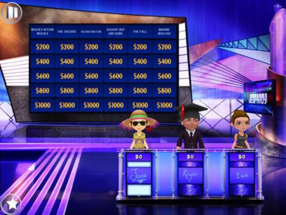 Photo -  The Jeopardy! app is based on the popular game show. [photo provided]