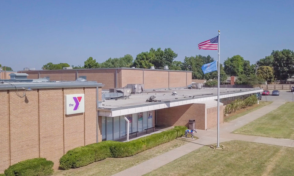 Photo - Drone image of Midwest City YMCA. Image by Dave Morris.