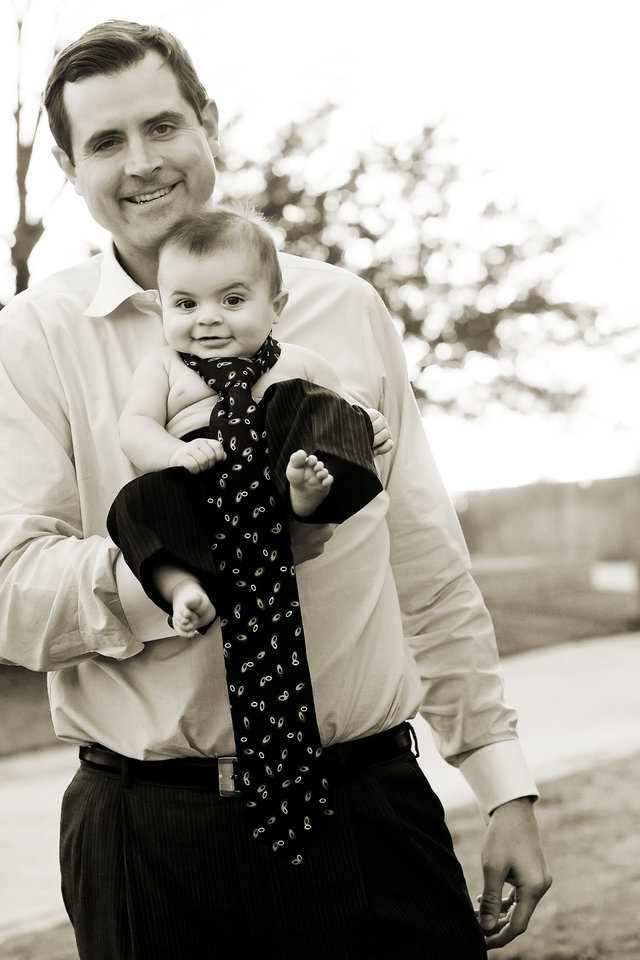 Photo - C. Renzi Stone holds his son, Isaiah, who died at 11 months from complications from pediatric epilepsy. Renzi and Lee Anne Stone have begun the Isaiah Stone Pediatric Epilepsy Lecture Series to raise money and awareness of the need for more research, specialists and treatment options for children with epilepsy. Photo provided.